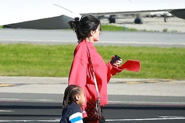 King Cairo Stevenson The Kardashian Family Catches a Private Jet Out of Town