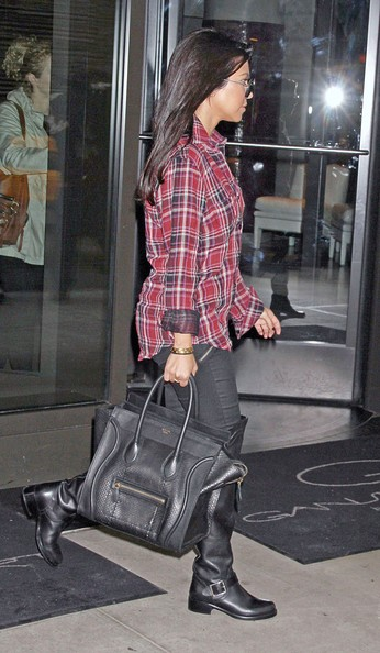Kourtney Kardashian Kourtney Kardashian and Scott Disick are pictured leaving their hotel in New York City.
