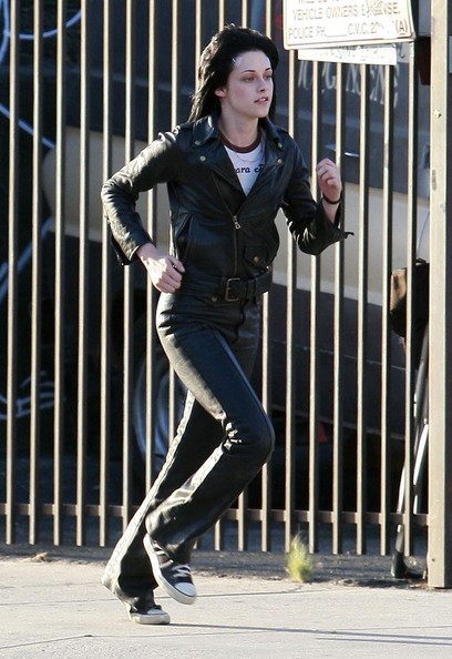 'Twilight' star Kristen Stewart on the set of 'The Runaways' in Los Angeles, CA.