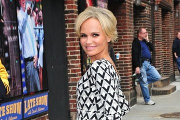 Kristin Chenoweth Celebs Stop by the 'Late Show with David Letterman'