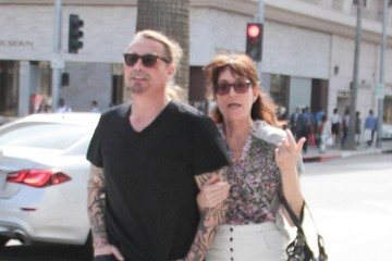Kurt Sutter Katey Segal Out and About in Hollywood