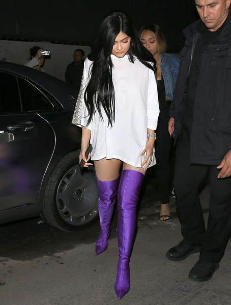 Kylie Jenner Parties In Purple