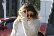 Kylie Jenner Stopping By The Andy Lecompte Salon