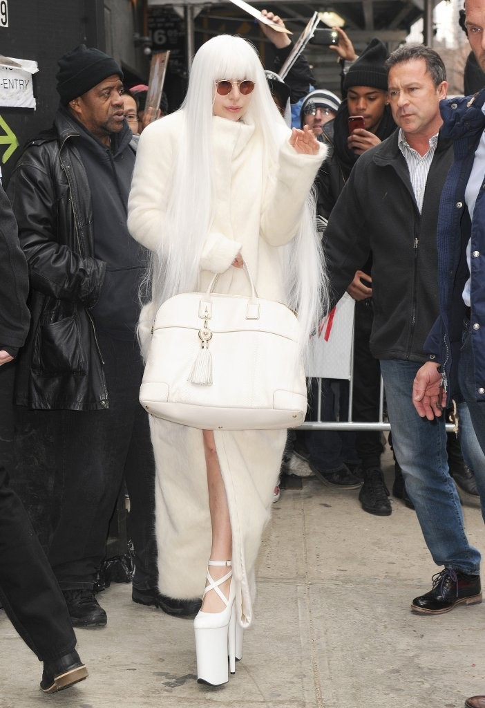 Lady Gaga Rocks Elaborate Outfits in NYC
