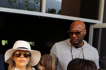 Lamar Odom The Kardashians Go to Church on Easter