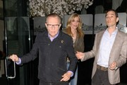 Larry King Takes His Wife to Dinner