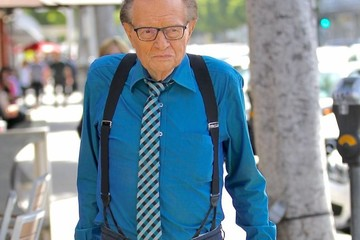 Larry King Larry King Has Lunch in Beverly Hills