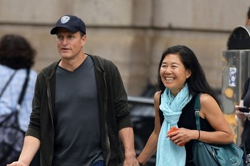 Laura Louie Woody Harrelson Out with His Wife in NYC