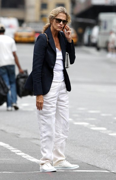 Lauren Hutton Actress Lauren Hutton seen talking on her cell phone in Nolita, NYC.