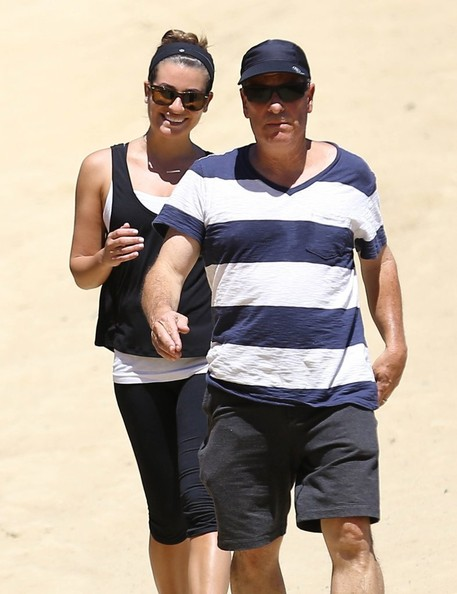 Lea Michele Hikes with Her Parents