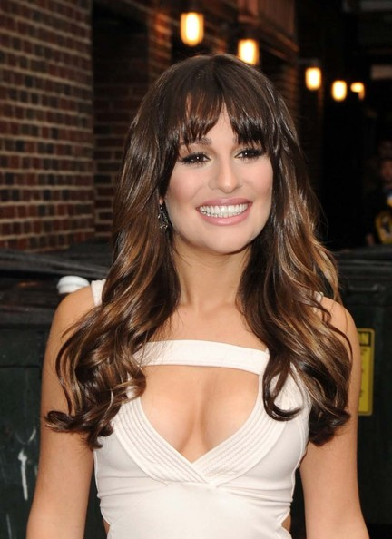 lea michele photos photos offwhite dress is right on