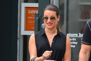 Lea Michele Lea Michele Out Shopping With Her Mom In New York City