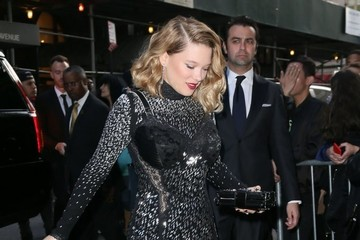 Lea Seydoux Celebrities Arriving at Their Hotel Ahead of the Met Gala