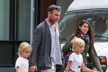 Liev Schreiber Liev Schreiber and His Boys Leave The Bowery Hotel
