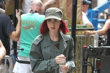 Lily Collins Celebrities Perform on the Set of 'Okja' in New York