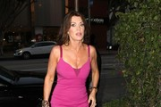 Lisa Vanderpump Dines Out At Madeo Restaurant
