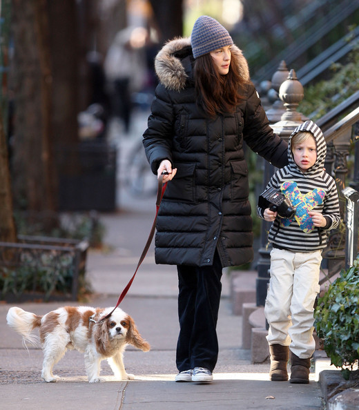Actress Liv Tyler and her son Milo Langdon leaving their West Village townhouse to walk their dog Neal. They were getting into the Christmas spirit by singing a Christmas song as they left the house... Mandatory credit: Brian Flannery/FlynetPictures.com