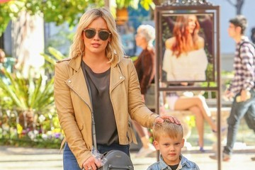 Luca Comrie Hilary Duff Goes Shopping with Her Son at The Grove