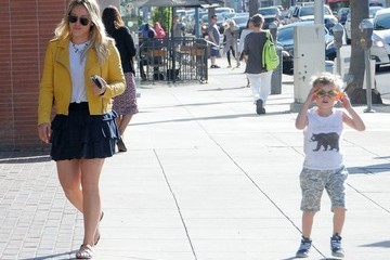 Luca Comrie Hilary Duff Out and About With Her Son Luca