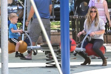 Luca Comrie Hilary Duff Takes Son Luca to the Park