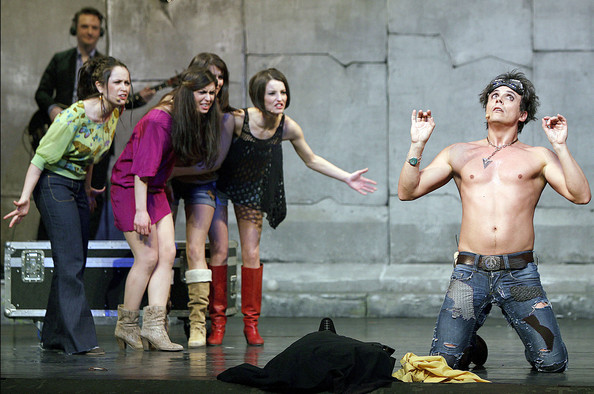 ... the musical comedy 'Hair' at the Theatre Du Gymnase in Paris, France