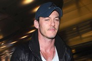 Luke Evans Touches Down At LAX