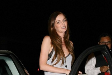 Lydia Hearst Celebrities Dine Out At Craig's Restaurant