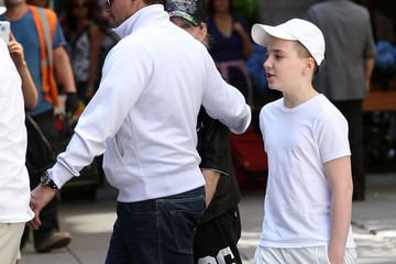 Rocco Ritchie Madonna Trying To Hide As She Leaves Kabbalah
