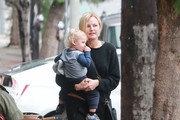 'The Comeback' actress Malin Akerman goes makeup free as she takes her son Sebastian to lunch in Los Feliz, California on December 16, 2014. Malin recently opened up to People about her feelings of being a mother to 20-month-old Sebastian. 'Motherhood is amazing. What mother would say it sucks? It's a lot of work, but it's the best job I've ever had.'
