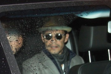 Marc Anthony Marc Anthony and Kelly Clarkson Leave Their Hotel in Washington DC