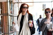 Marcia Cross Stops for Coffee