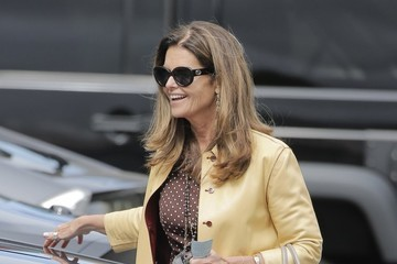 Maria Shriver Maria Shriver Lunches in Brentwood