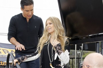 Mario Lopez Celebs Stop by the 'Extra' Set