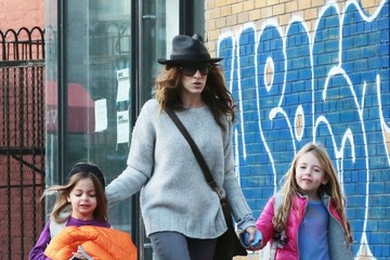 Marion Broderick Sarah Jessica Parker Out in NYC With Her Daughters