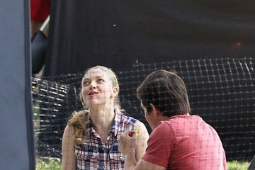 Mark Wahlberg Amanda Seyfried Scenes from the 'Ted 2' Set