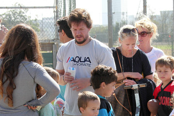 Mark Wahlberg Ella Wahlberg Mark Wahlberg And Rhea At Their Son's Soccer Game