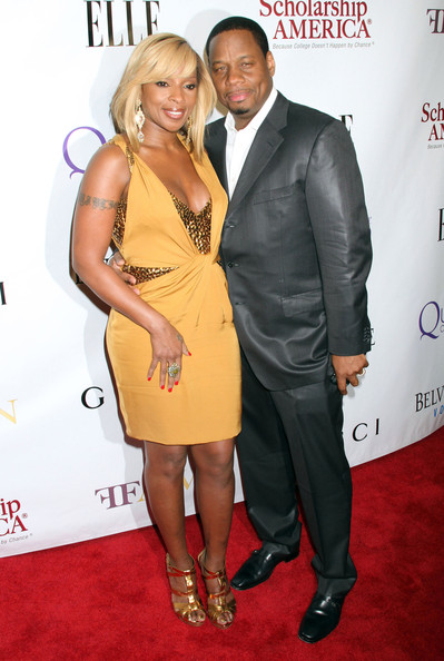 Mary J. Blige with cool, beautiful, Husband Kendu Isaacs