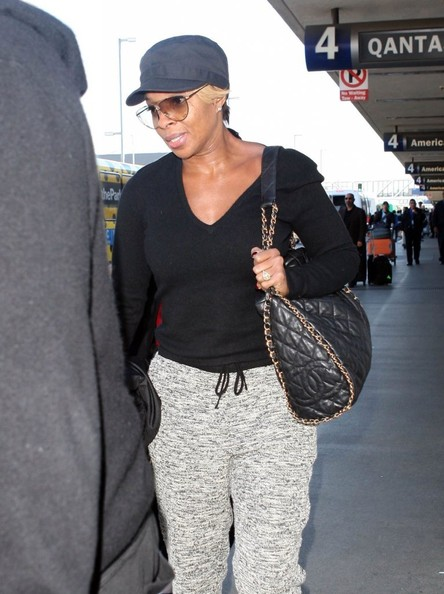 Mary J. Blige - Mary J. Blige Arrives in LA
