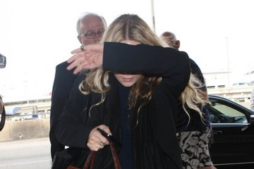 Mary-Kate Olsen The Olsen Twins Departing On A Flight At LAX