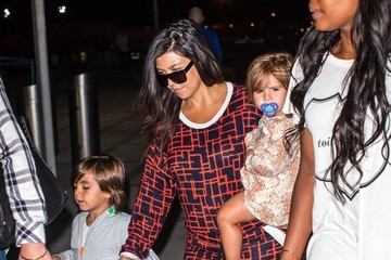 Mason Disick Kourtney Kardashian and Kids Arrive in NYC