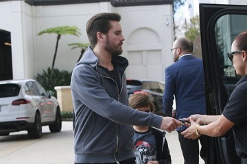Mason Disick Kanye West Out Shopping In Beverly Hills