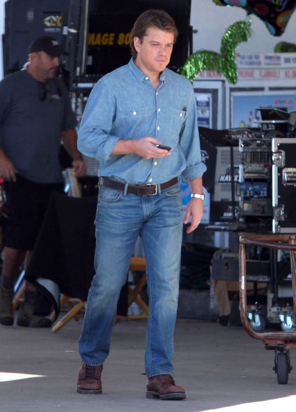 Actor Matt Damon on the set of 'We Bought A Zoo' in Thousand Oaks, CA.