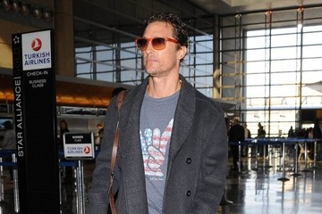 Matthew McConaughey Matthew McConaughey Departing On A Flight At LAX