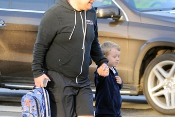 Max Corden James Corden Out And About With His Son