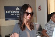 Megan Fox Lands at LAX Airport