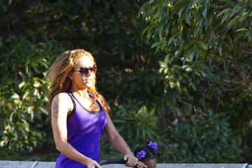 Angel Iris Murphy-Brown Mel B Looking Fit On a Walk with Her Kids