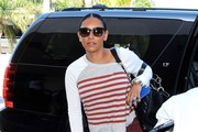 Melanie Brown Catches a Flight