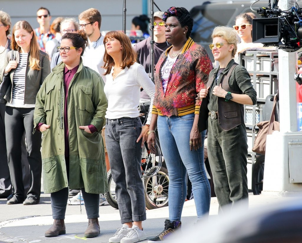 See Behind-the-Scenes Pics from the New 'Ghostbusters' Reboot