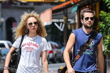 Michael Angarano Juno Temple and Michael Angarano Leave the Gym
