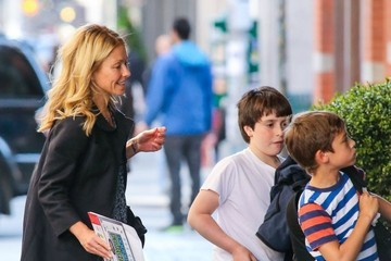 Michael Consuelos Kelly Ripa Walks Home With Her Kids